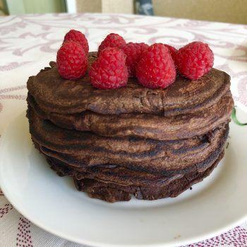 Tortitas con harina de algarroba